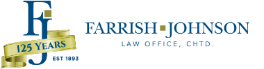 Farrish Johnson Law Office - 125th Anniversary Logo