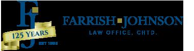 Farrish Johnson Law Office - 125th Anniversary Logo